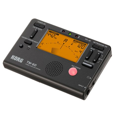 KORG TM60-BK TUNER AND METRONOME WITH WIDE DETECTION