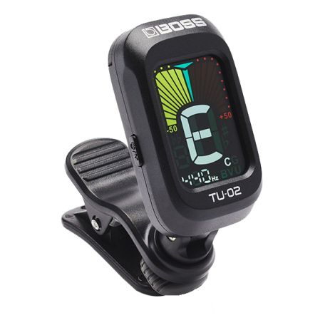 BOSS TU-02 EXP PREMIUM QUALITY CLIP ON TUNER WITH FULL COLOUR DISPLAY