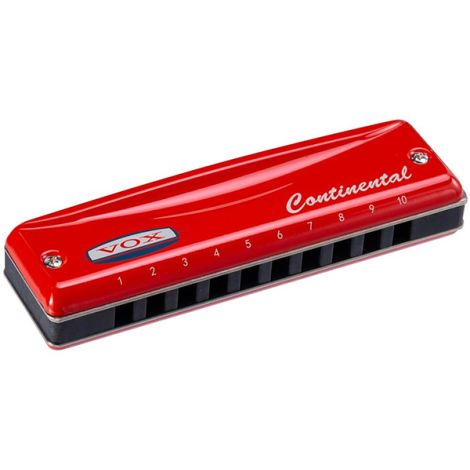 VOX VCH-2-G HARMONICA KEY OF G CONTINENTAL RED