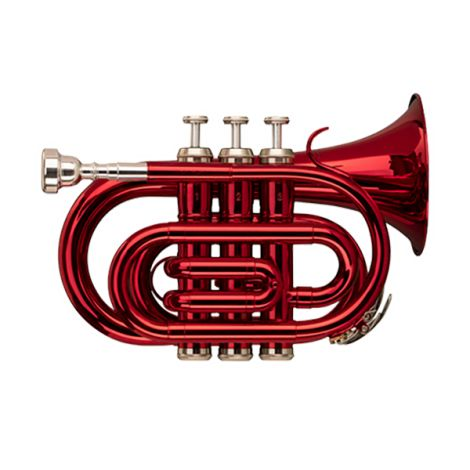 STAGG TR247S Bb Pocket Trumpet with Soft Case Red